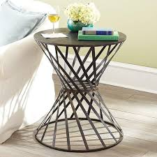 side accent tables drum table side tables pedestals wisteria inside metal drum accent