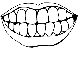 fancy coloring pages teeth 92 free colouring pages