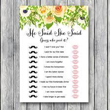 Wedding Shower Games Floral Wedding Shower Game Printable Bridal Shower Game