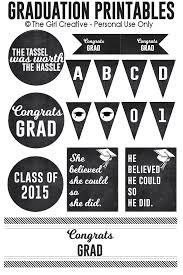 graduation signs graduation printables the girl creative
