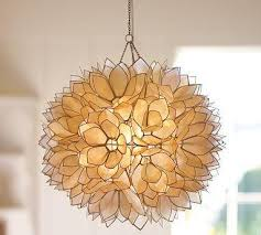 Capiz Light Pendant Pendant Pottery Barn