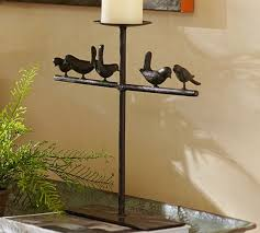 Candle Sconces Pottery Barn Bird On A Perch Pillar Candleholders Pottery Barn