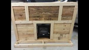 how to make homemade fireplace from pallets diy how to youtube