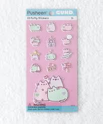 pastel pusheen puffy bubble sticker sheet u2013 hey chickadee