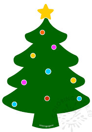 tree with balls and coloring page