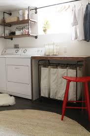 Laundry Sorter With Folding Table Before And After Pugmire Laundry Room Basement Laundry Laundry