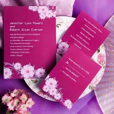 pink wedding invitations printable hot pink floral wedding invites ewi198 as low as 0 94