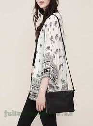 elephant blouse s blouses white black s open front blouse