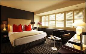 bedroom red wall simple romance bedroom ideas for married