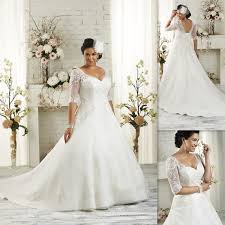 plus size wedding dress sleeves 2017 plus size wedding gowns mermaid with sleeves appliques lace