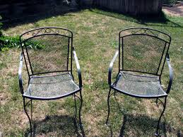 Retro Metal Patio Furniture - vintage metal outdoor patio tulip chairs outdoor metal patio arm