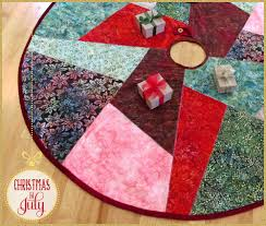 batik u0026 velvet crazy patch tree skirt christmas in july with