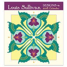louis sullivan designs 2018 mini wall calendar u2013 chicago