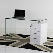 Glass Computer Desk With Drawers Impressive On Glass Computer Desk With Drawers With Furniture