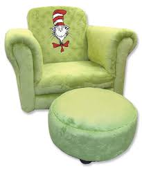dr seuss cat in the hat sage chair with ottoman trend lab