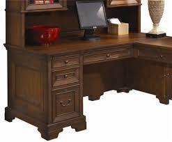 Computer Desk With Return 66 Inch Single Pedestal Computer Desk For A Return By Aspenhome