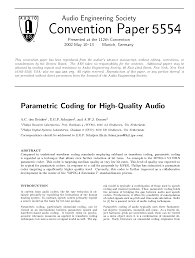 aes e library parametric coding for high quality audio