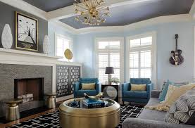 Yellow Living Room Rugs Teal Yellow Living Room Transitional With Plantation Shutters