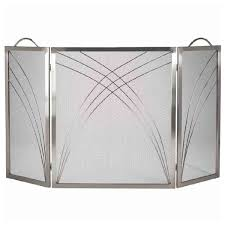 3 fold satin nickel fireplace screen northline express