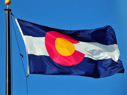 Flag White On Top Red On Bottom Colorado Flag State Flag Of Colorado
