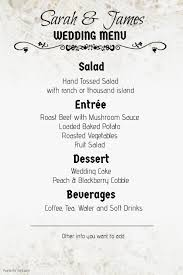 menu templates for weddings wedding invitation templates postermywall
