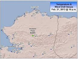 Alaska On Map Brian B U0027s Climate Blog U S U0026 Alaska Wind Chill Record