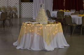 christmas lights under table cloth wedding pinterest hockey