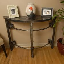 Half Circle Accent Table Custom Forged Iron Half Console Table By Arc Iron