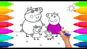 3584 Best Color And Paint by How To Draw Peppa Pig Coloring Book For Kids Learning Paint With