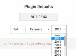 format date javascript jquery easy customizable jquery dropdown date picker plugin free jquery