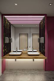 interior 3d visualizations for a stylish office bathroom project