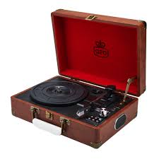 vintage brown gpo attaché turntable vinyl record player