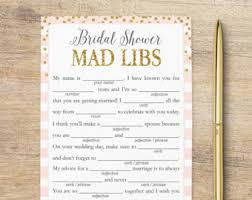 words of wisdom cards for bridal shower bridal mad libs etsy
