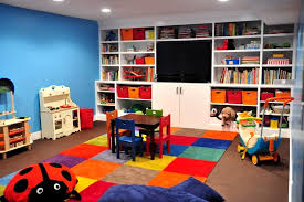 blue wall paint color ideas for small kids playroom decor nytexas