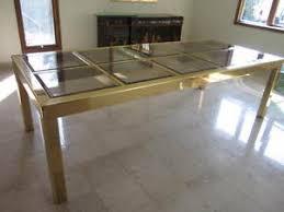 brass glass dining table mid century modern brass and glass dining table signed mastercraft