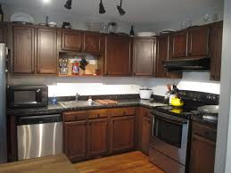 Black Kitchen Cabinets With Stainless Steel Appliances Kitchen Kitchen Colors With Dark Oak Cabinets Spice Jars Racks
