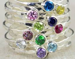mothers rings with birthstones mothers ring etsy