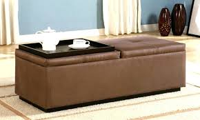 dark brown storage ottoman large brown storage ottoman rectangular leather ottoman large