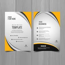 Brochure Templates For Business Free Download | modern business brochure template vector free download