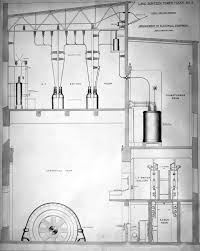 technical drawing showing cross section of electrical equipment