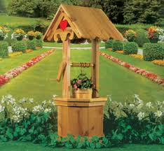 wood wishing well for yard this octagonal shaped wishing well