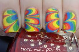 rainbow watermarble more nail polish