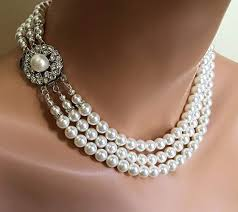 vintage necklace sets images Classic pearl necklace set vintage style like jackie o jpg