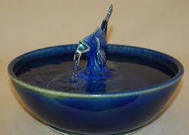 Home Blue Fish Reduced Cat Fountain Home Decor Fountain Pet Fountain 11 5