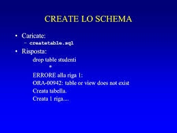 Ora 00942 Table Or View Does Not Exist Esercizio Pl Sql E Psp Ppt Scaricare