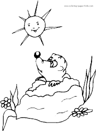 groundhog color printable coloring pages kids
