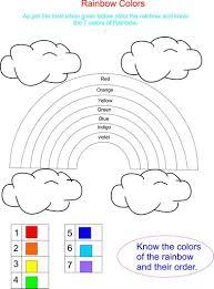 best photos of rainbow color worksheets for kindergarten u2013 free in