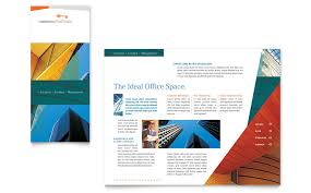 commercial real estate property brochure template word u0026 publisher