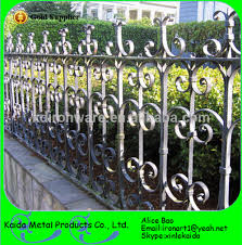Home Garden Decoration Wrought Iron Metal Fence Panels design