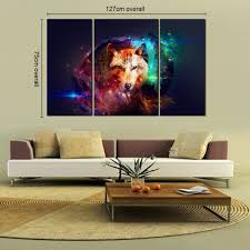 amazon com rain queen canvas print abstract colorful wolf oil